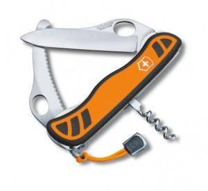 Нож складной солдатский Victorinox Hunter XS, Кол-во функций: 5 в 1, Цвет: Оранжево-чёрный, (0.8331.MC9)