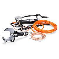 Комплект гидравлических ножниц с ножной помпой для резки кабелей под напряжением КВТ НГПИ-85