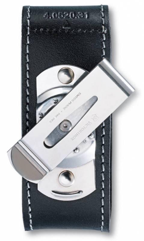 Чехол для ножа Victorinox POUCH 4.0520.31, Материал: Кожа, Крепление: Клипса металлическая с поворотным механи