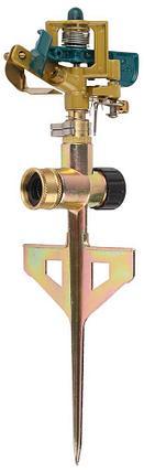Распылитель для полива RACO 4260-55/704C, ЭКСПЕРТ, импульсный, латунный, на пике с упорами, 490 кв.м , фото 2