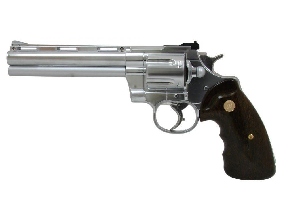 Револьвер для страйкбола ASG Zastava R-357 Chrome, Калибр: 6,0 мм, Дульная энергия: 0,7 Дж, Ёмкость магазина (
