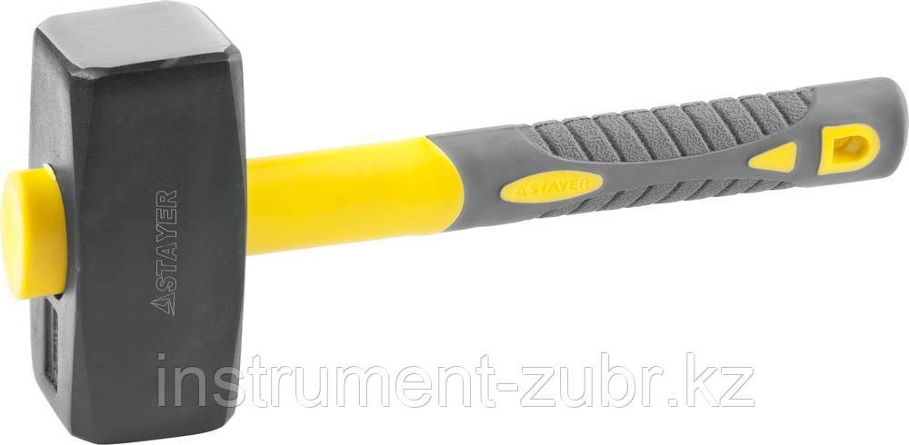 Кувалда с удлинённой фиберглассовой рукояткой 2 кг, STAYER Fiberglass-XL