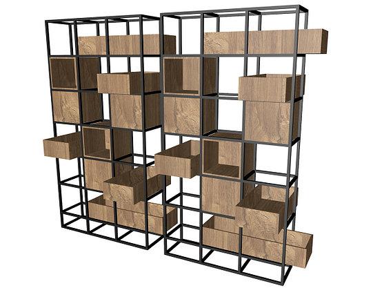 Стеллаж - ячейки с ящиками, фото 3