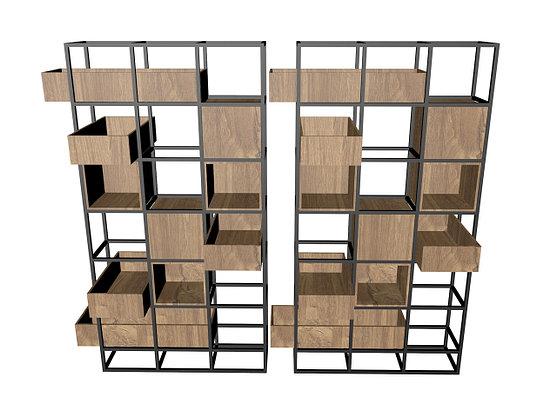 Стеллаж - ячейки с ящиками, фото 2