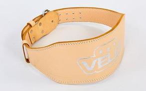 Пояс для пауэрлифтинга кожаный Velo, фото 2