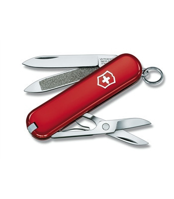 Нож складной карманный Victorinox Classic, Функционал: Туризм, Кол-во функций: 7 в 1, Цвет: Красный, (0.6203)