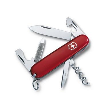 Нож складной армейский Victorinox Sportsman, Кол-во функций: 14 в 1, Цвет: Красный, (0.3803)