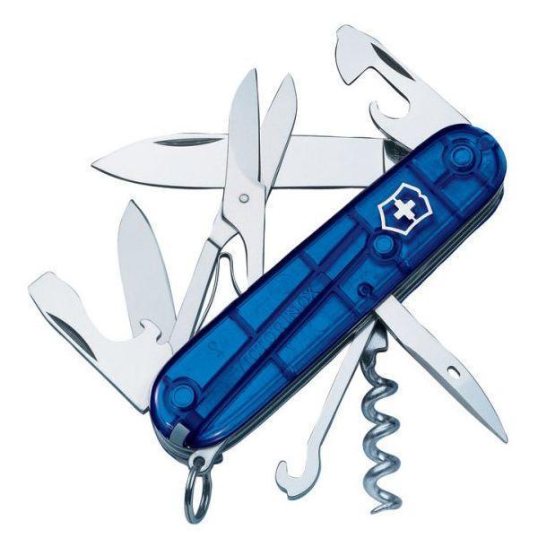 Нож складной офицерский Victorinox Climber, Функционал: Альпинистский, Кол-во функций: 14 в 1, Цвет: Синий (пр