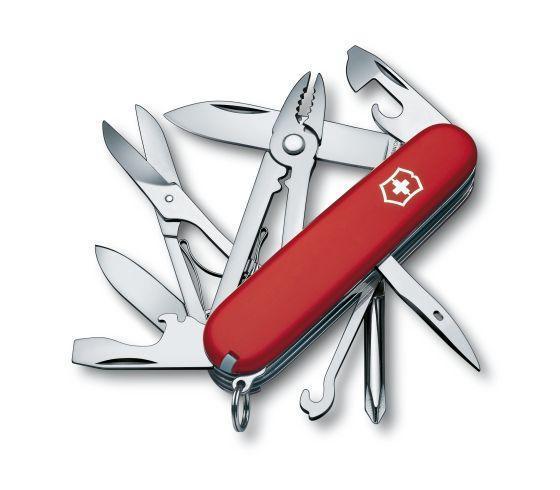 Нож складной офицерский Victorinox Deluxe Tinker, Функционал: Универсальная, Кол-во функций: 17 в 1, Цвет: Кра