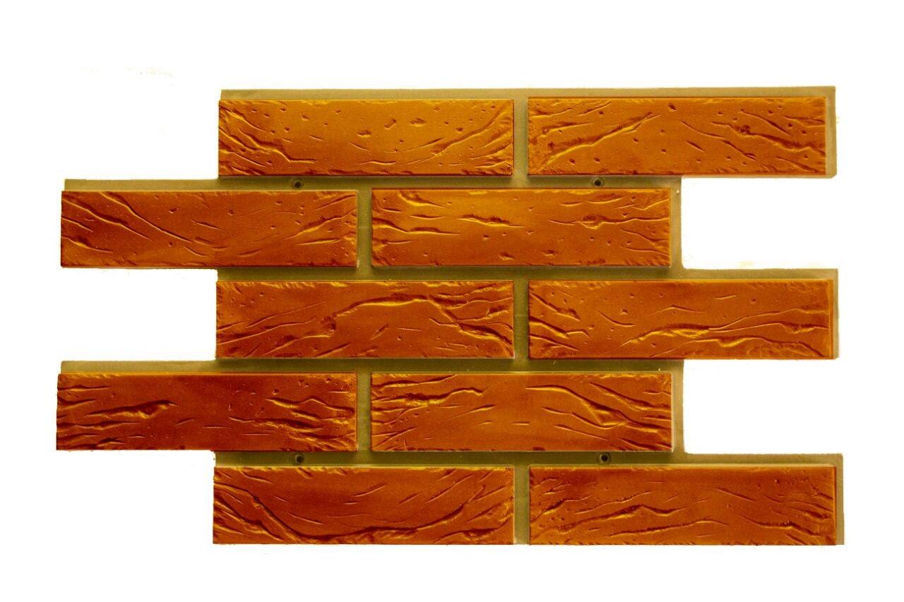 Фасадные облицовочные бетонные панели под кирпич. Шамотный кирпич