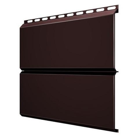 Сайдинг металл цвет коричневый шоколад Евробрус (L-брус) (RAL 8017)