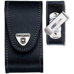 Чехол для ножа Victorinox POUCH 4.0521.31, Материал: Кожа, Крепление: На пояс, Застежка: Velkro (липучка), Цве