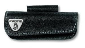 Чехол для ножа Victorinox POUCH 4.0520.3H, Материал: Кожа, Крепление: На пояс, Застежка: Липучка, Цвет: Чёрный