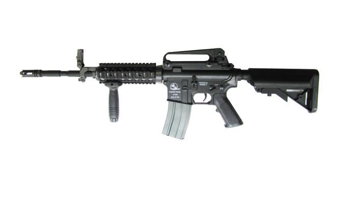 Автомат для страйкбола ASG ARMALITE M15 A4 R.I.S., Калибр: 6,0 мм, Дульная энергия: 0,9 Дж, Ёмкость магазина (