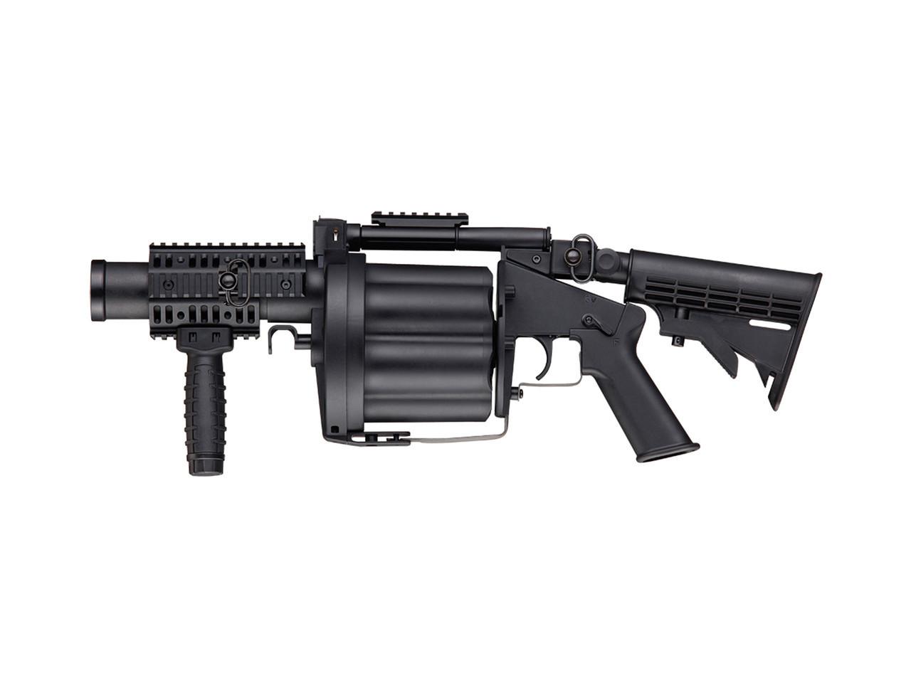 Гранатомет для страйкбола ASG Milkor Multiple Grenade Launcher, Калибр: 40 мм, Ёмкость магазина (барабана): 6,