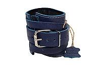 Манжета для тяги на тренажере (кожа) F8 синий