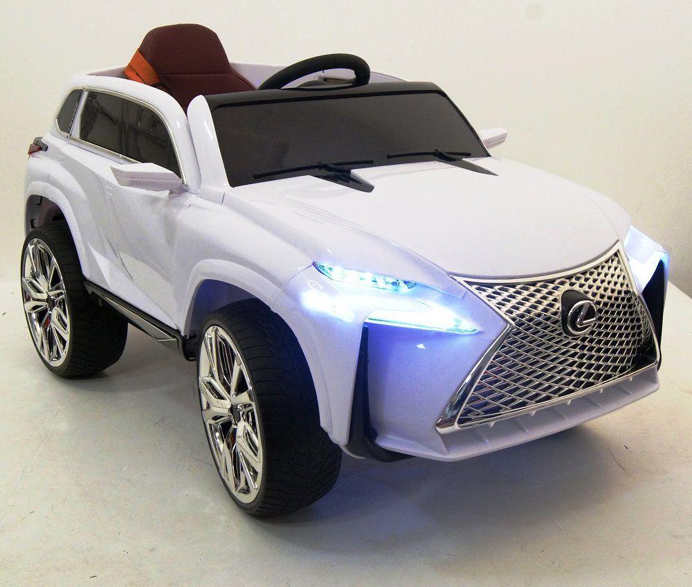 Автомобиль Bugati Lexus на аккумуляторе белый