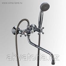 СЛ-ДВ-А31 Смеситель для ванны с дл изл , перек флаж двур А31