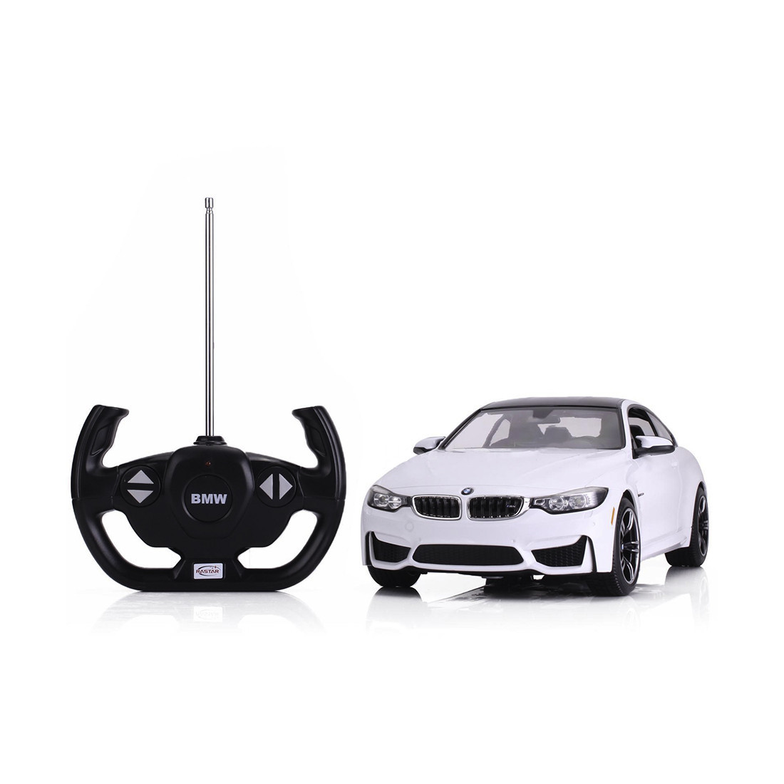 Радиоуправляемая модель автомобиль Rastar BMW M4, 1:14, Управление: Джойстик, Материал: Пластик, Цвет: Белый,