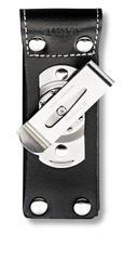 Чехол для ножа Victorinox POUCH 4.0524.3, Материал: Кожа, Крепление: Клипса металлическая с поворотным механиз