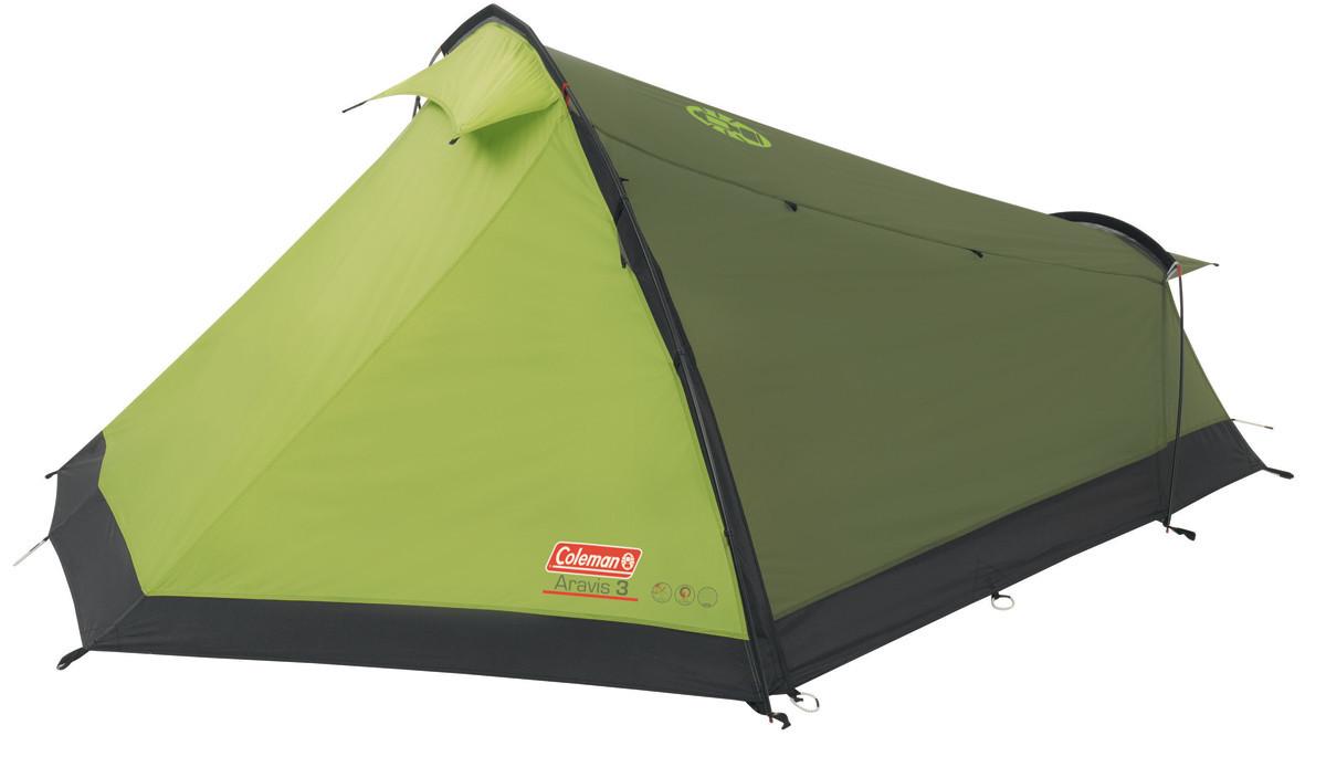 Палатка трекинговая (равнинная) Coleman Aravis 3, Кол-во человек: 3, Входов/комнат: 2/1, Тамбуров: 2, Внутренн