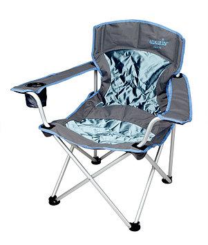 Кресло складное Norfin Family Verdal NFL, Нагрузка (max): 145 кг, Подстаканник, Подлокотники, Цвет: Серо-синий