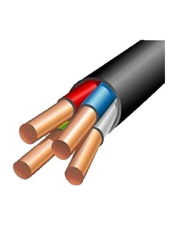 Кабель силовой АВВГ 4х6, Жила: Монолитный, Кол-во жил: 4, Материал жилы: Алюминий, Тип изоляции: ПВХ пластикат