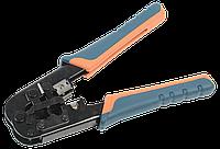 ITK Инструмент обжимной для RJ-45/RJ-12/RJ-11 без храпового механизма с прорезиненными ручками