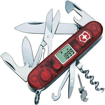 Нож складной офицерский Victorinox Traveller, Кол-во функций: 25 в 1, Цвет: Красный (прозрачный), (1.3705.AVT)