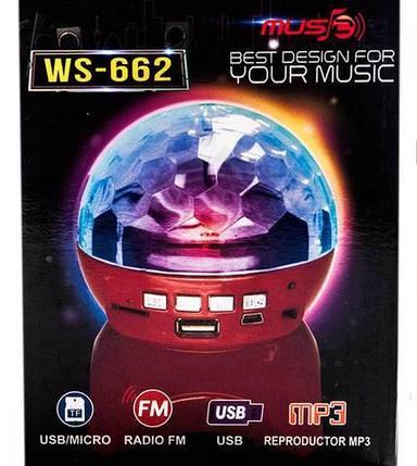 """MP3-плеер c FM-радио и цветомузыкой """"Диско-шар"""" WS-662, фото 2"""