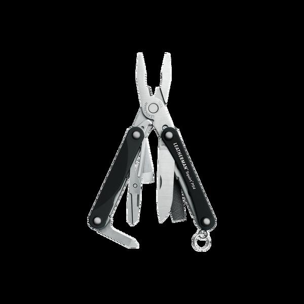 Мультитул брелок Leatherman Squirt PS4, Кол-во функций: 9 в 1, Цвет: Чёрный, (PS4)