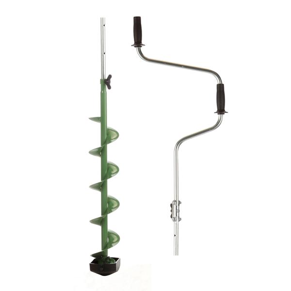 Ледобур складной Mora Expert Pro 200, Рукоять: Со встроенным удлинителем, Диаметр: 200 мм, Толщина льда: 1200