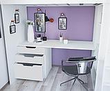 Кровать - чердак Polini Simple с письменным столом и шкафом, цвет белый 00-72568, фото 3
