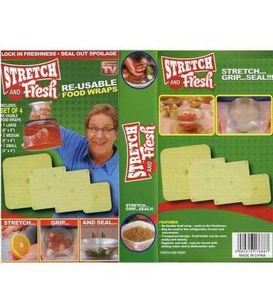 Набор крышек-пленок для упаковки продуктов Stretch and Fresh [4 предмета], фото 2