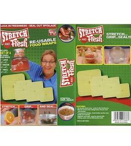 Набор крышек-пленок для упаковки продуктов Stretch and Fresh [4 предмета]