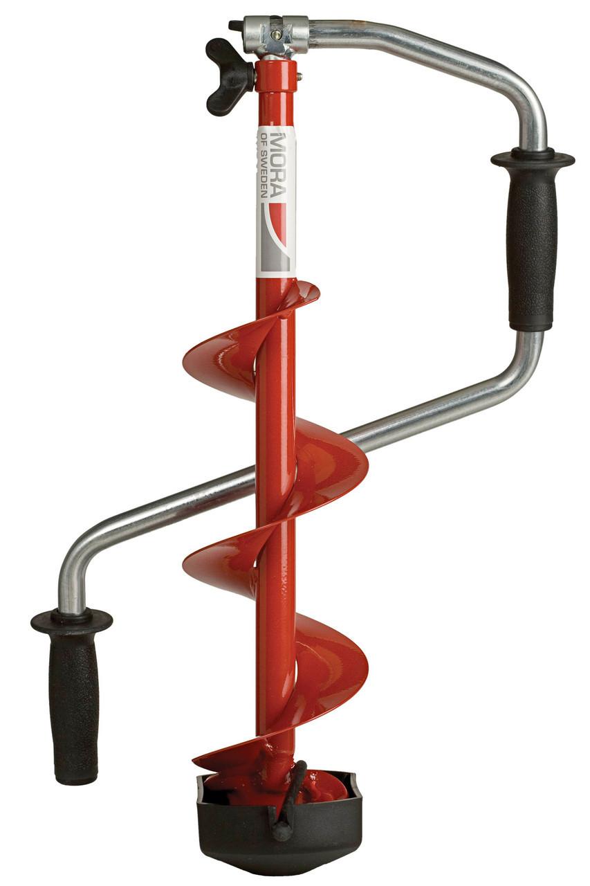 Ледобур складной Mora Ice Micro 150, Рукоять: Со встроенным удлинителем, Диаметр: 150 мм, Толщина льда: 880 мм
