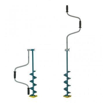 Ледобур классический Тонар ЛР-130, Рукоять: Со встроенным удлинителем, Диаметр: 130 мм, Толщина льда: 1000 мм,