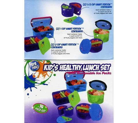 Набор ланч-боксов с аккумуляторами холода 350KFF [14 предметов], фото 2