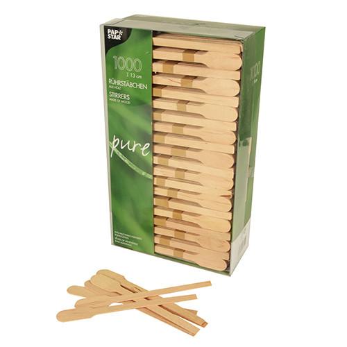 Деревянные плоские ложки 13см