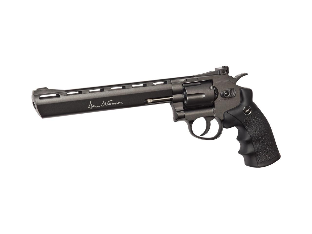 """Револьвер для страйкбола ASG Dan Wesson 8"""", Калибр: 6,0 мм, Дульная энергия: 2,7 Дж, Ёмкость магазина (барабан"""