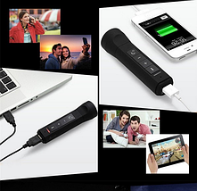 Аккумулятор для зарядки USB-устройств, фонарик, MP3-плеер, FM-радио Diyatel 8101 [4-в-1], фото 3