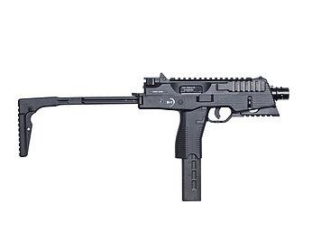 Пистолет-пулемёт для страйкбола ASG B&T MP9 A3, Калибр: 6,0 мм, Дульная энергия: 1,0 Дж, Ёмкость магазина (бар