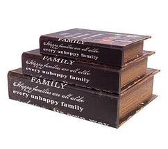Набор деревянных шкатулок-книг «Фолиант» [комплект из 3 шт.] (London), фото 2