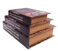 Набор деревянных шкатулок-книг «Фолиант» [комплект из 3 шт.] (London), фото 3