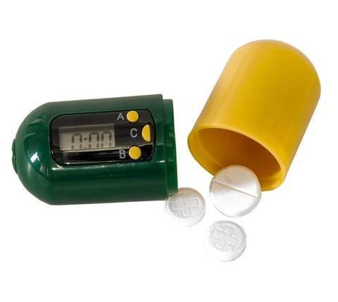 Контейнер для таблеток с таймером «НАПОМИНАТЕЛЬ» BRADEX KZ-0105