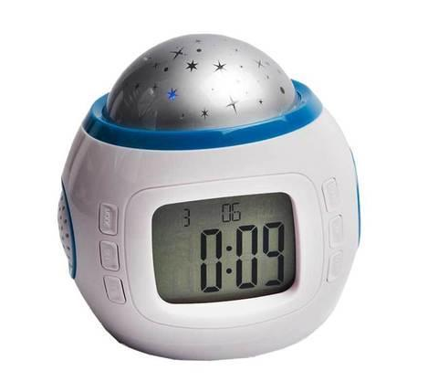 Ночник-проектор звездного неба с часами, термометром и музыкой Music Starry Sky, фото 2