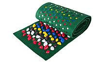 Коврик массажно-ортопедический с камнями 200x40 см Зеленый ковролин