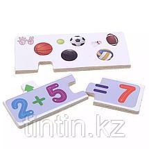 Деревянные обучающие пазлы, 12 карточек-заданий, фото 2