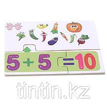 Деревянные обучающие пазлы, 12 карточек-заданий, фото 3