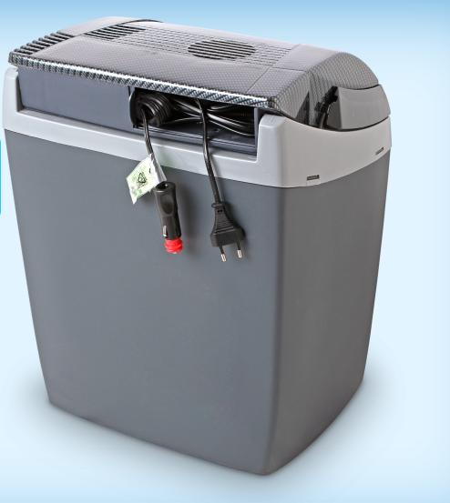 Автохолодильник термоэлектрический EZetil E-3000 AES/LCD Carbon, Вместимость: 23 л, Электропитание: 12 В/220 В